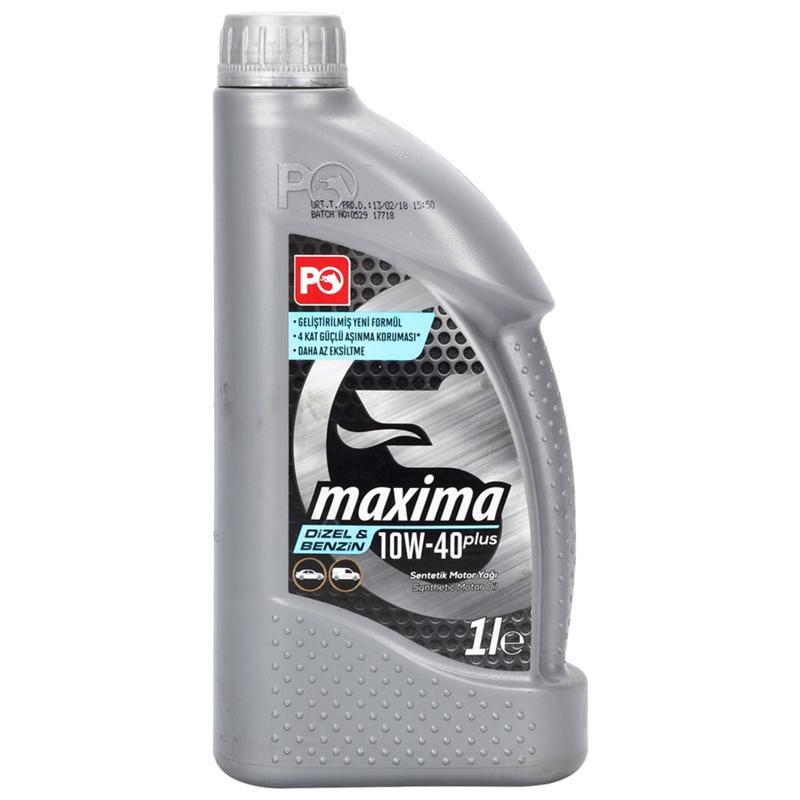 Petrol Ofisi Maxima Plus Motor Yağı 10W-40 1 Litre