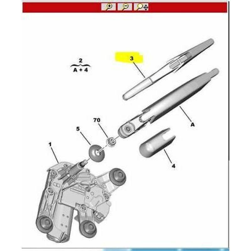 CITROEN  C4 CACTUS ARKA SILECEK (ORİJİNAL) - 1611872380