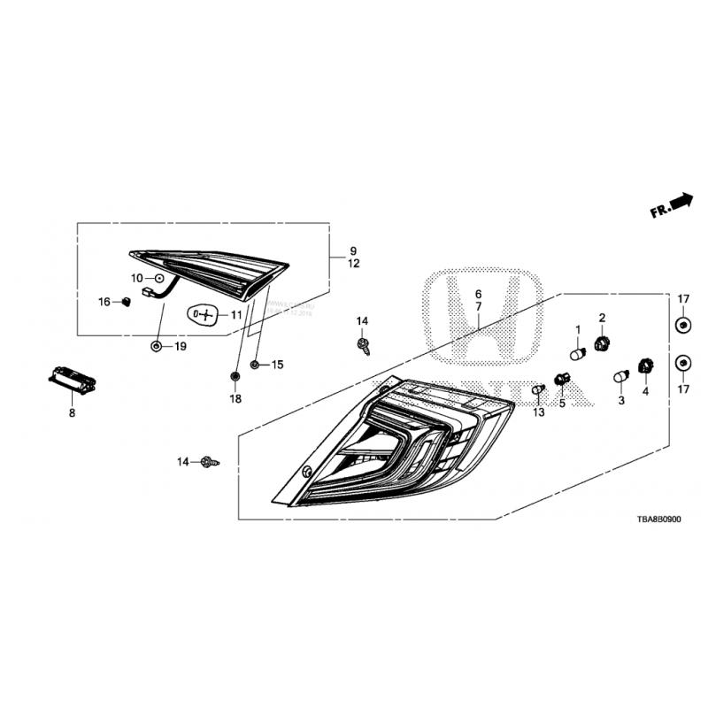 HONDA CIVIC FC5 BAGAJ SAĞ STOPU (ORİJİNAL) - 34150TEXY01